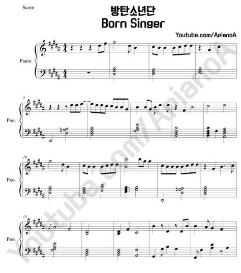 bts born singer apianoa kpop piano cover bts born singer piano sheets