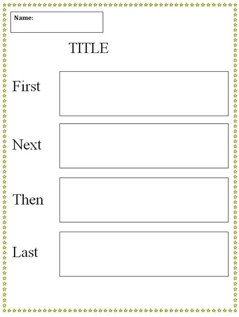 first next then last graphic organizer template k 5