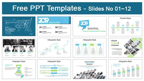 2019 Business Plan Powerpoint Templates For Free Business Plan Ppt Free