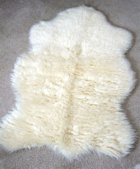 white fur rugs thick white faux fur rug home and garden