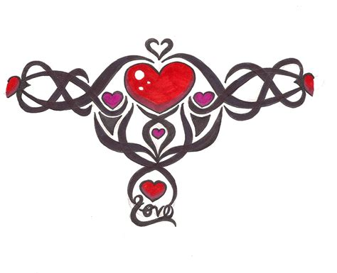tribal heart tattoo tribal hearts designs tattooshunt