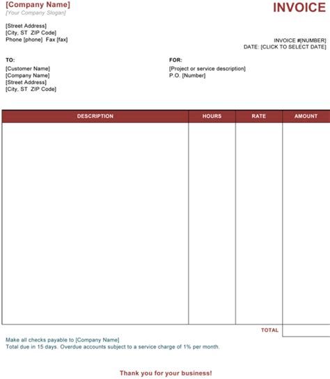 invoice for services rendered template service invoice template word invoice exle
