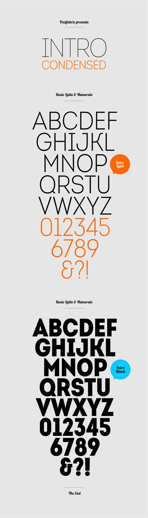 printed fontfabric free font intro condensed fontfabric