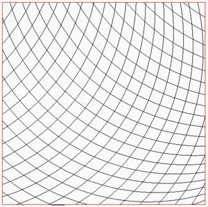 Fill Curved Grid Square Asymmetrical