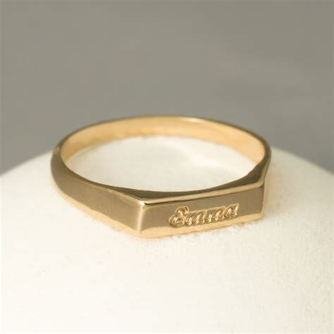 engravable ring gold custom ring gold engraved