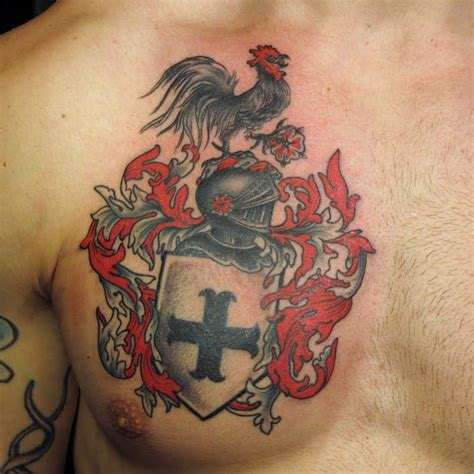 arm and chest tattoo family crest chest jpg 800 215 800 coat arms