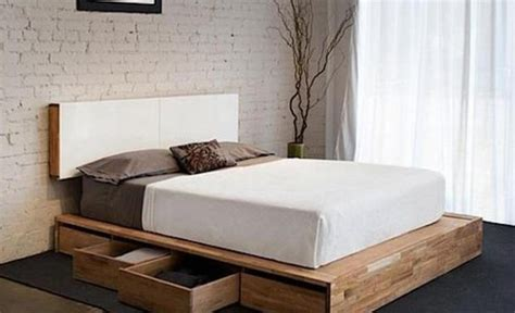 Rustic Bedroom Decorating Ideas by Diy Storage Bed Projects The Budget Decorator