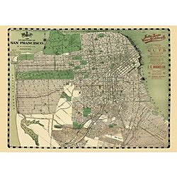 san francisco map paper cities collection paper source