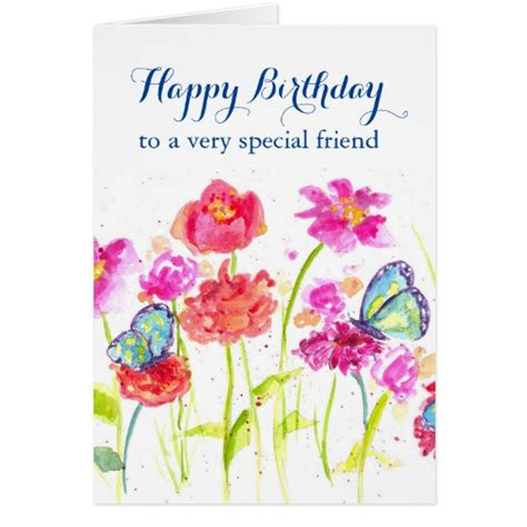 how to make a special birthday card happy birthday special friend card butterflies zazzle