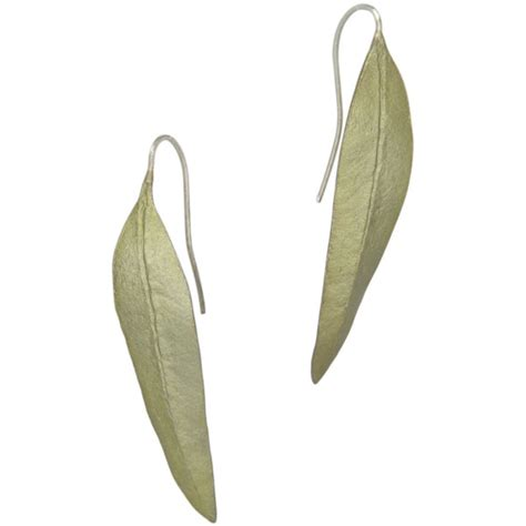 Boma Sterling Silver Leaf Earrings eucalyptus leaf earrings david