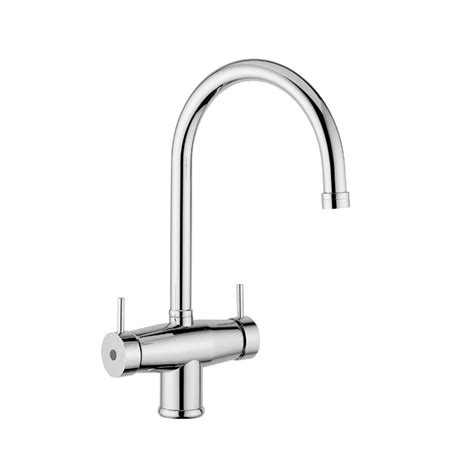 Soft Flow Kitchen Taps by Quadro Ciana Chrome 3 Way Tri Flow Kitchen Tap