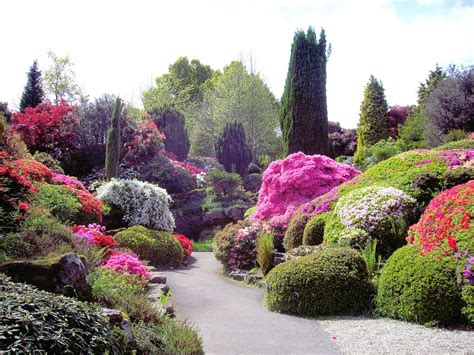 flowers gardens and landscapes river rock flower bed designs home decorating ideas