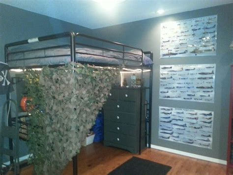 loft bed army theme boys room homie