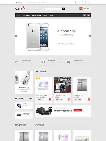 joomla shop template free computer technology joomla virtuemart template zt vela