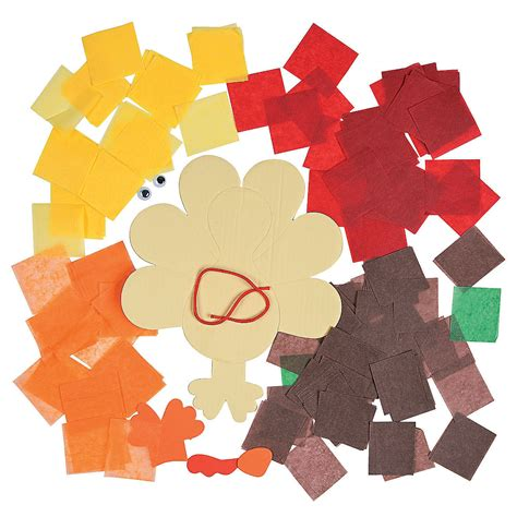 tissue paper turkey craft kit trading