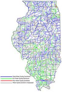 rivers and streams map conditions of illinois water resources 2000 water