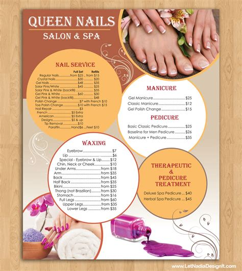 nail salon price list template price list design for nail salon in hockessin delaware