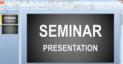 templates for seminar ppt elements of a good ppt seminar