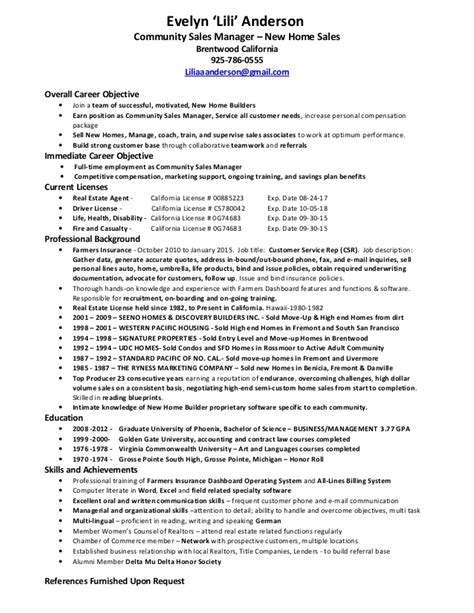 Community Manager Sle Resume by Resume 05 13 15
