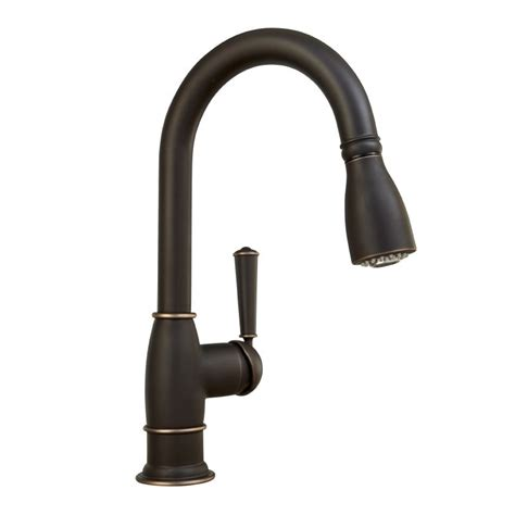 Mirabelle Kitchen Faucets Mirabelle Mirxcha102brz Rubbed Bronze Hartfield Pullout Spray Bar Prep Faucet With High