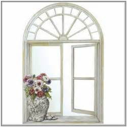 Ideas Design For Arched Window Mirror Arched Window Mirror With Shutters Home Design Ideas