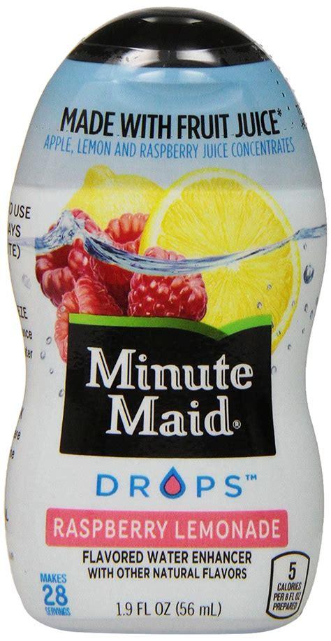 ingredients in minute light lemonade minute raspberry lemonade nutrition facts