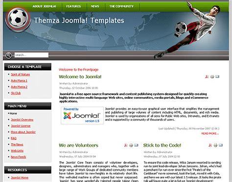 Joomla Design Vorlage Stadion Eine Kostenlose Joomla 1 5 Vorlage Themza