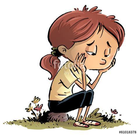imagenes de tristeza caricaturas quot ni 241 a aburrida y triste quot stock photo and royalty free