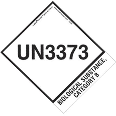 Printable Un3373 Label | wsu shipping hms