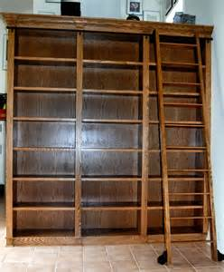 Bookcases With Ladder Custom Bookcase With Rolling Ladder By Dk Kustoms Inc Custommade