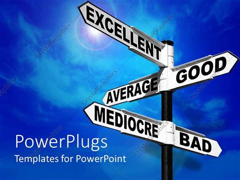 Excellent Powerpoint Templates by Powerpoint Template Signpost With Words Excellent Average