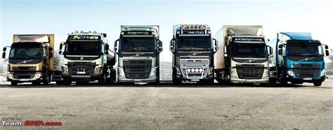 volvo trucks india volvo trucks reving the entire range team bhp