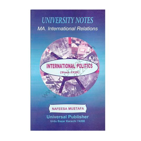 Ma In International Relations And Mba by Ma International Relations International Politics Since