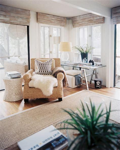 beachy neutral bedroom louvered doors boho beach style living room curtains photos 3 of 10 lonny
