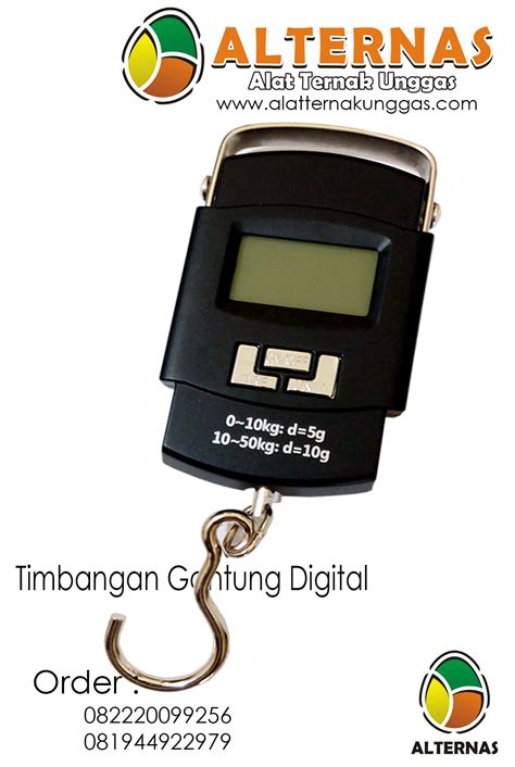 Timbangan Digital Area Malang timbangan gantung digital 50kg alat ternak alat ternak