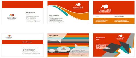 desain kartu nama siap edit 100 contoh desain kartu nama keren siap pakai tutorial89