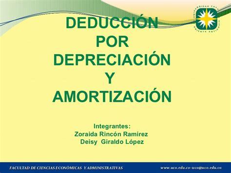 depreciacion de vehiculos 2016 colombia deduccion por depreciacion y amortizacion
