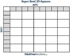 Office Football Pool 25 Squares Football Betting Board Template Ncaa Football Bcs