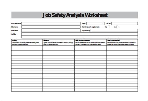Blank Spreadsheet Template 15 Free Word Excel Pdf Documents Download Free Premium Safety Analysis Template