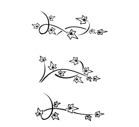 simple vine tattoo 28 best ivy tattoos for women stencils images on pinterest