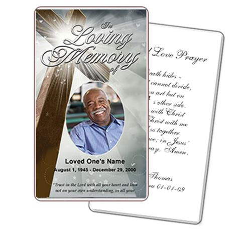 funeral prayer card template free funeral template superstore company offers new line of