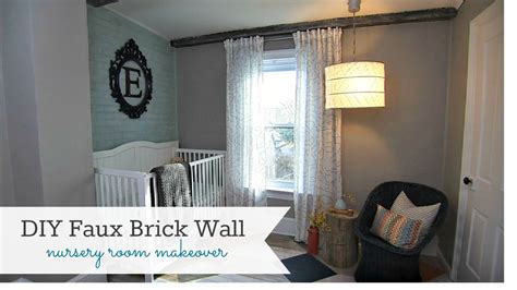 Fake Exposed Brick Wall by Diy Faux Brick Wall Knock It Off Diy Project East