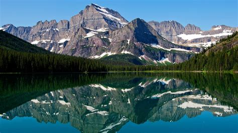 mountain lake reflections wallpapers hd wallpapers id