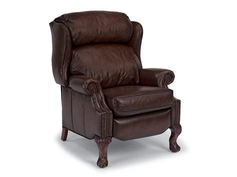leather high leg recliner flexsteel living room leather high leg recliner 1168 50
