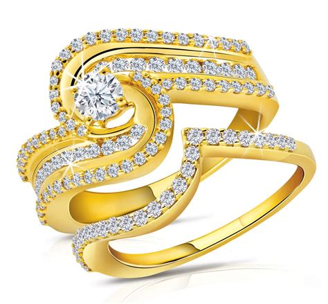 Ringe Gold by World Fashions Engagement Gold Rings