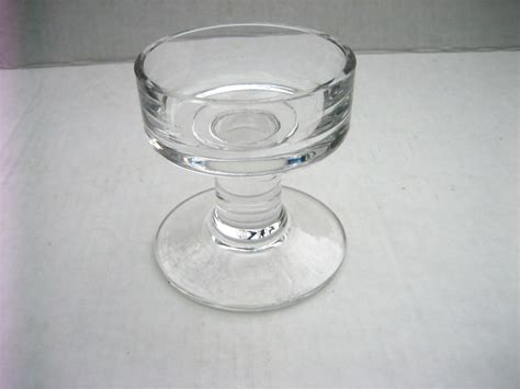 Glass Candle Pedestal Vintage 1980 S Wedgwood Clear Glass