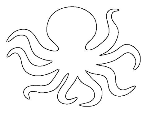 printable octopus art octopus pattern use the printable outline for crafts