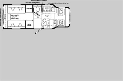 rialta floor plans winnebago rialta floor plans 2005 winnebago rialta class c rvweb com rialta rv floor plans