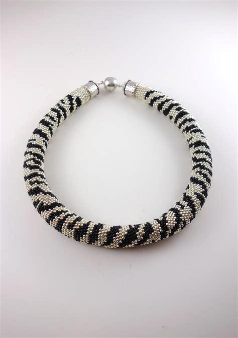 Zebra Necklace zebra animal print necklace designedbynatasha
