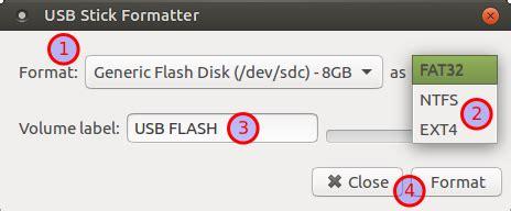 format flashdisk terminal cara format flashdisk di ubuntu debian menggunakan